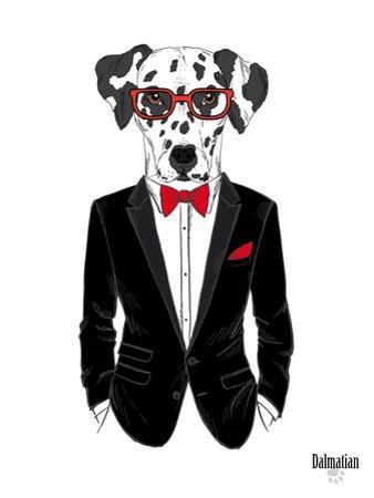 Dalmatian Dog in Tuxedo by Olga Angellos