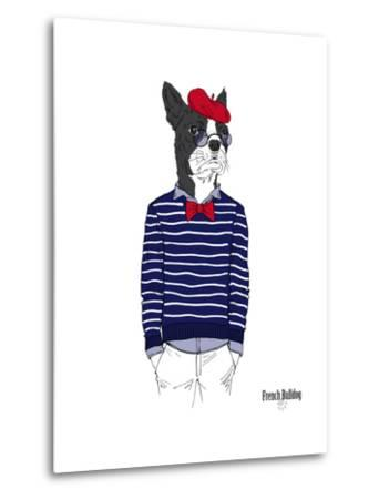 French Bulldog in French Style