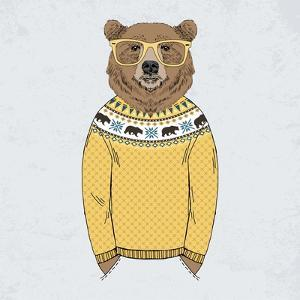 Bear Dressed up in Pullover by Olga_Angelloz