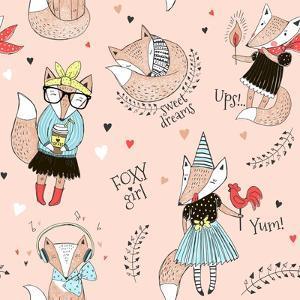Cute Fox Character Doodles by Olga_Angelloz