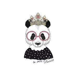 Cute Portrait of Panda Princess by Olga_Angelloz