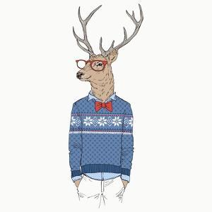 Deer Dressed up in Pullover by Olga_Angelloz