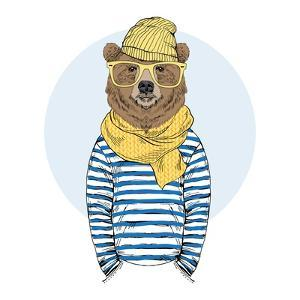 Funny Bear Dressed up in Frock by Olga_Angelloz