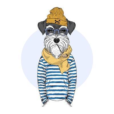 Nautical Schnauzer Dog Sailor