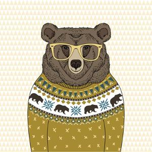 Portrait of Bear in Pullover by Olga_Angelloz