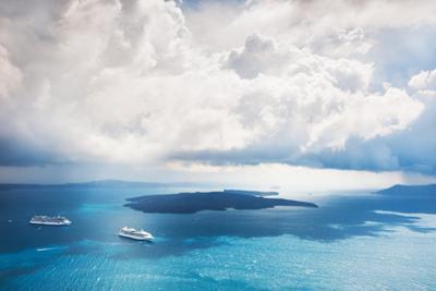 Stormy Clouds over the Sea, Santorini Island, Greece by Olga Gavrilova