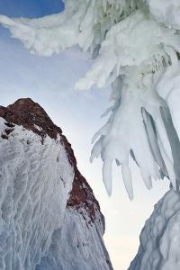 Ice Splash Out Formation With Icicles, Lake Baikal, Siberia, Russia, March by Olga Kamenskaya