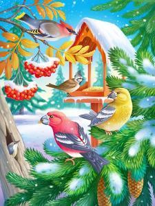 Winter Birds by Olga Kovaleva