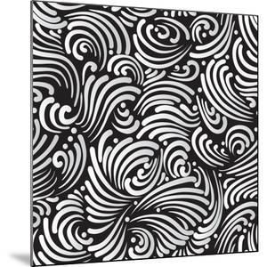 Abstract Black And White Background, Seamless Pattern by Olga Lebedeva