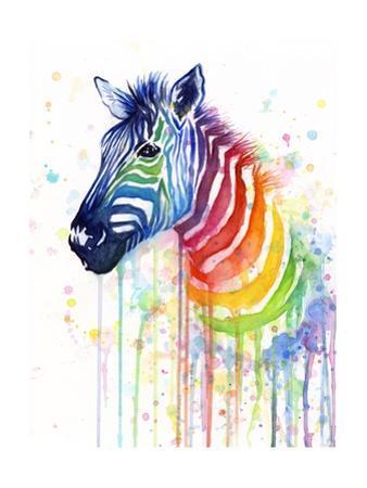 Rainbow Zebra by Olga Shvartsur
