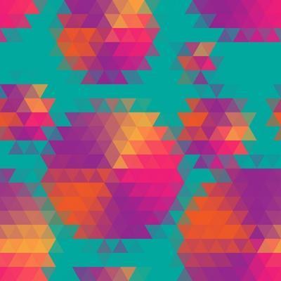 Vector Abstract Seamless Pattern with Mosaic Circles.
