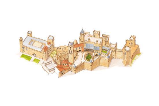 Olite Castle, Navarra, Spain-Fernando Aznar Cenamor-Giclee Print