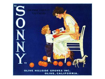 Olive, California, Sonny Brand Citrus Label-Lantern Press-Art Print