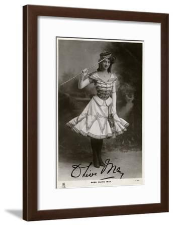 Olive May, Actress, C1900s-C1910S- Tuck and Sons-Framed Giclee Print