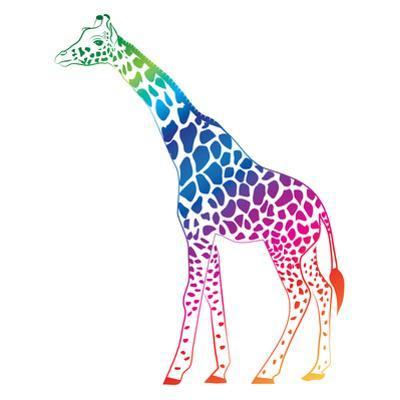 Giraffe Colorful Vector by olive1976