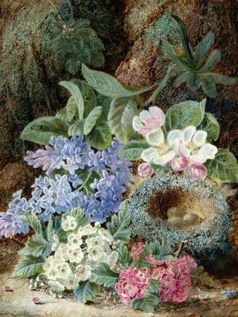 Lilac Blossom and a Bird's Nest