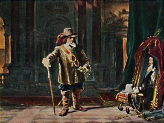 'Oliver Cromwell 1599-1658. - Gemälde von Schrader', 1934-Unknown-Giclee Print
