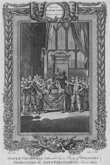 'Oliver Cromwell (attended by a City of Soldiers) dissolving the Long Parliament. Anno 1653', c1787-Unknown-Giclee Print