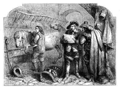Oliver Cromwell Discovering the Letter of King Charles I at the Blue Boar, Holborn, London, C1902-E Kretzschniar-Giclee Print