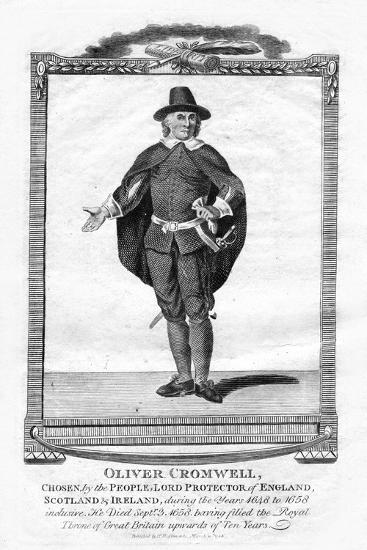 Oliver Cromwell, English Military Leader and Politician, 1706--Giclee Print