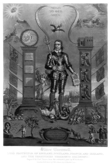 Oliver Cromwell, English Soldier and Statesman-Charles Turner-Giclee Print