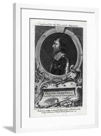 Oliver Cromwell, Lord Protector of England, 1750--Framed Giclee Print
