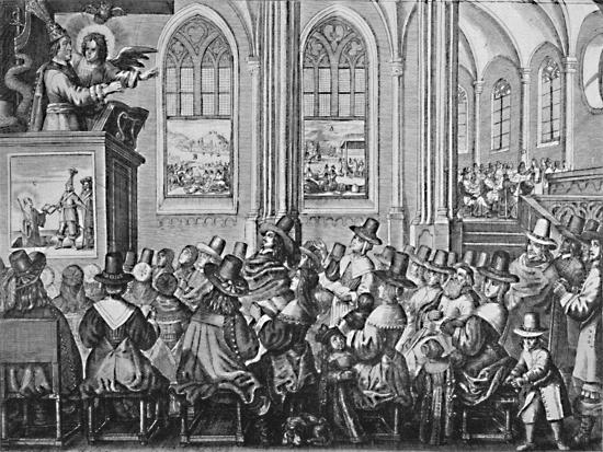 'Oliver Cromwell Preaching', c1650, (1903)-Unknown-Giclee Print