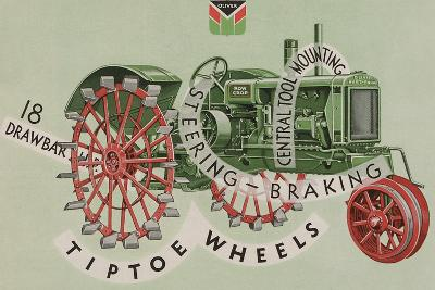 Oliver Farm Equipment Sales Company Tractor Equipped with Tiptoe Wheels--Giclee Print