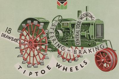 Oliver Farm Equipment Sales Company Tractor Equipped with Tiptoe Wheels