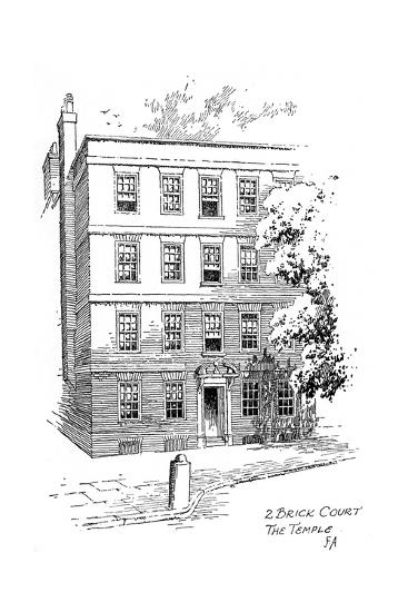 Oliver Goldsmith's House, 2 Brick Court, Temple, London, 1912-Frederick Adcock-Giclee Print