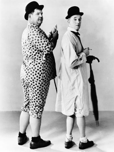 Oliver Hardy, Stan Laurel, Hal Roach Publicity Shot, Early 1930S--Photo