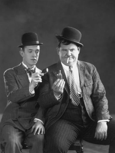 Oliver Hardy, Stan Laurel--Photographic Print