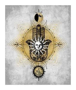 Hamsa Hand with Sun by Oliver Jeffries