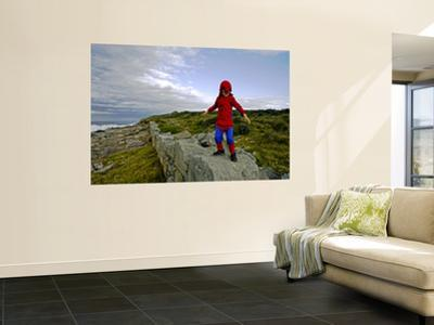 Child Dressed as Spiderman at Maroubra Beach
