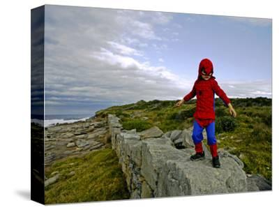 Child Dressed as Spiderman at Maroubra Beach