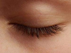 Close-Up of an Eyelash by Oliver Strewe