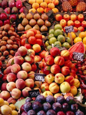 Fruit at La Boqueria Market, Barcelona, Spain by Oliver Strewe