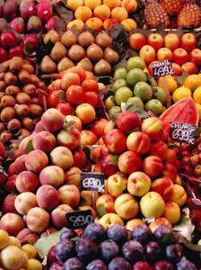Fruit at La Boqueria Market, Barcelona, Spain by Oliver Strewe