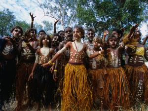 Lockhart River State School Dance Troupe, Cape York Peninsula, Queensland, Australia by Oliver Strewe