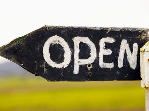 Open Sign Detail by Oliver Strewe