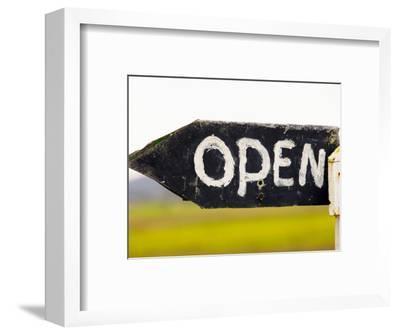 Open Sign Detail