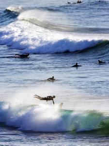 Surfing at Southern End of Bondi Beach by Oliver Strewe