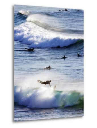 Surfing at Southern End of Bondi Beach