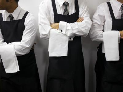 Waiters Ready for Service