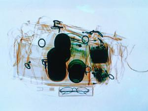 X-Ray of Cabin Luggage at Sydney Airport, Sydney, Australia by Oliver Strewe