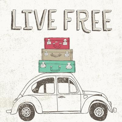 Road Trip Beetle Luggage by Oliver Towne