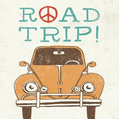 Road Trip Beetle Retro by Oliver Towne