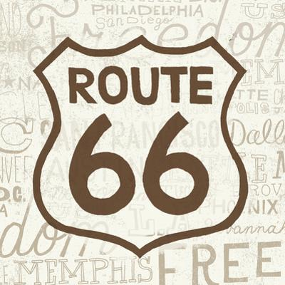 Road Trip Route 66 Brown by Oliver Towne