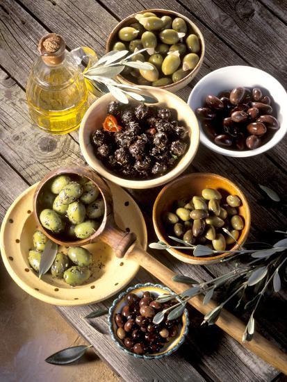 Olives in Bowls-Martina Urban-Photographic Print