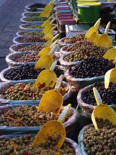 Olives on Market Stall, Provence, France, Europe-Miller John-Photographic Print